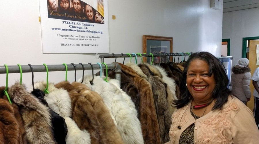 PETA Distributes Fur Coats to Bronzeville Homeless