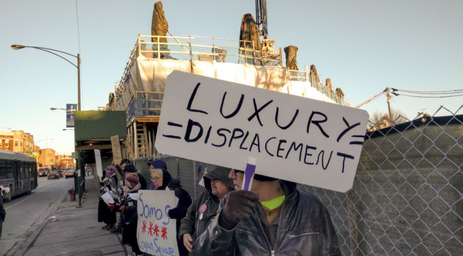 AUDIO: LOGAN SQUARE PROTESTERS FEAR GENTRIFICATION