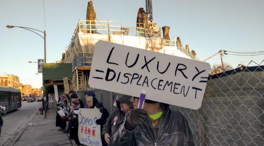 AUDIO: LOGAN SQUARE PROTESTERS FEARGENTRIFICATION